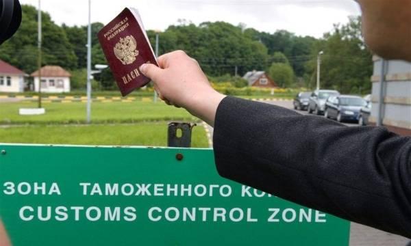 Очередь на эстонской границе