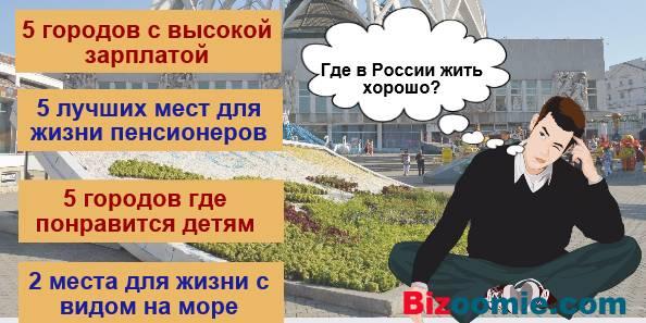 Хорошие города для жизни в россии