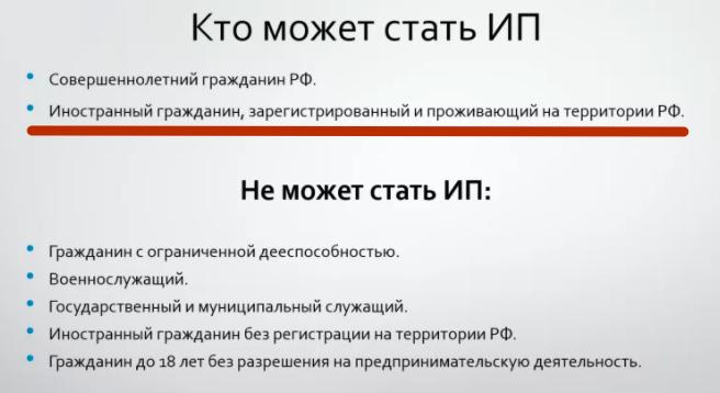 Ип для иностранного гражданина в россии