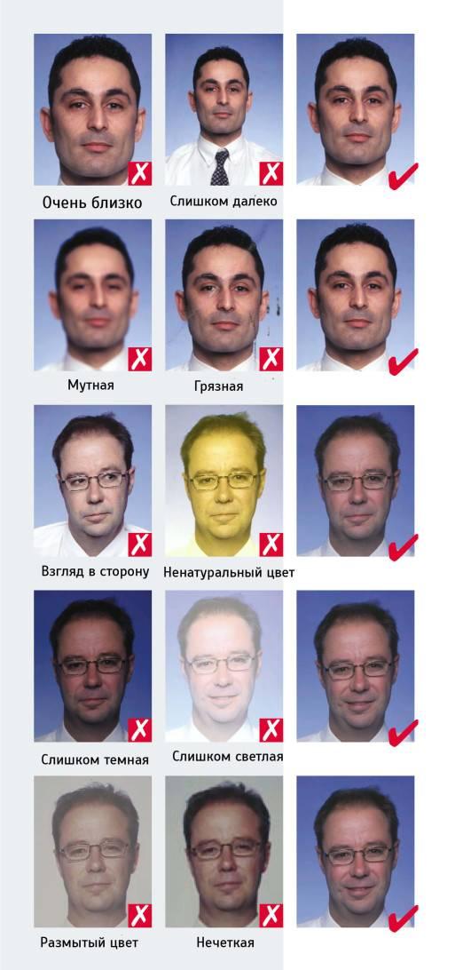 Размер фотографии на шенгенскую визу