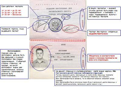 Последняя страница паспорта