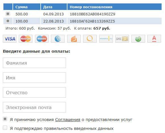 Штрафы онлайн по водительскому удостоверению