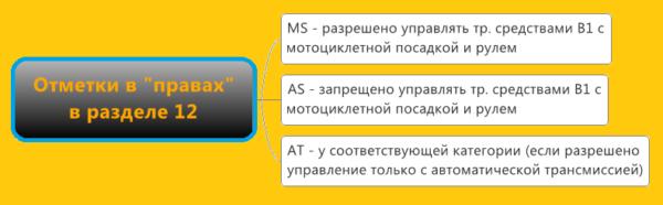 Отметка as в водительском удостоверении