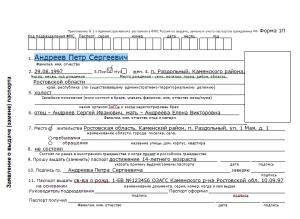 Документы для оформления паспорта