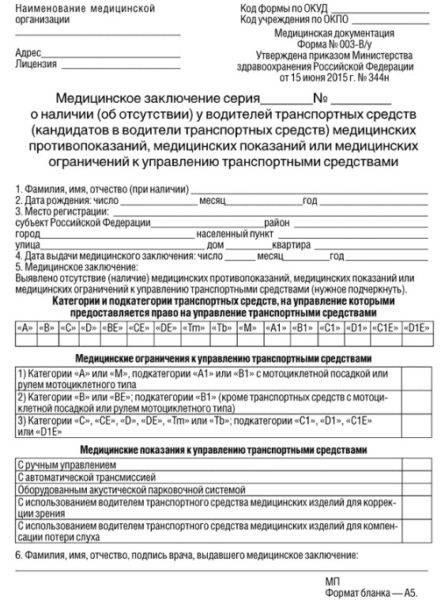 Документы на права в гибдд