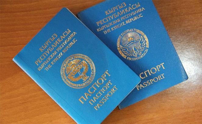 Киргизский паспорт фото