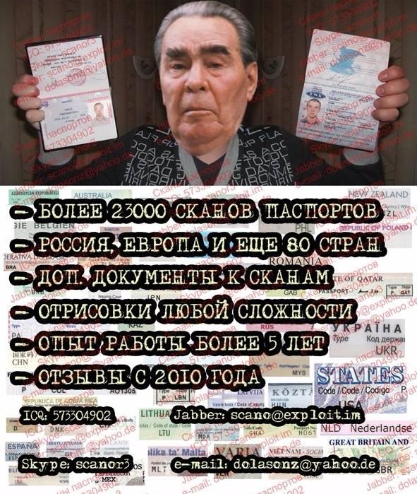 Скан паспорта украины