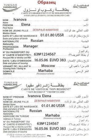 Тунис срок действия загранпаспорта
