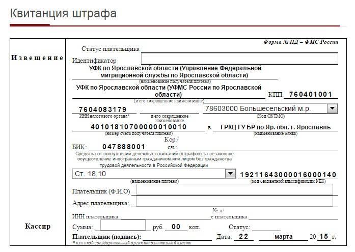 Штраф без прописки в паспорте