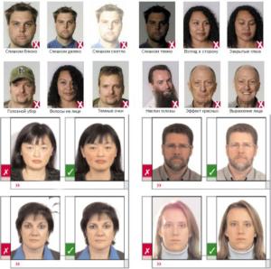 Какие фотографии нужны на паспорт