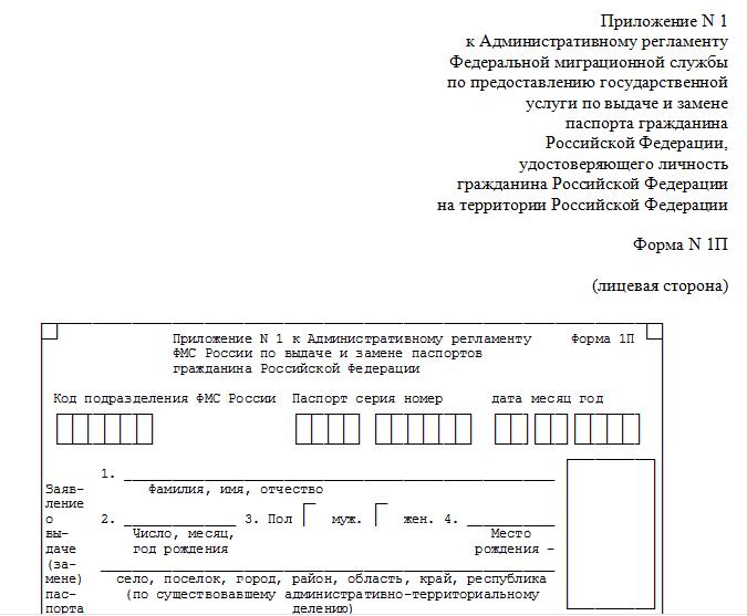 Список документов на паспорт