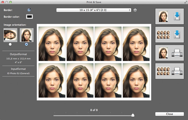 Рис. 9 – приложение Passport Photo Studio