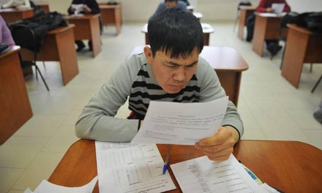 Экзамен для внж